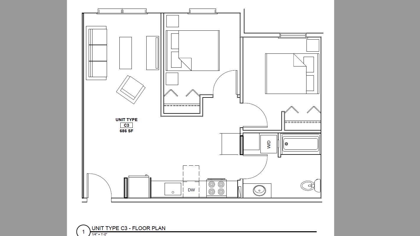132 Marginal Way – Apartment 231  **Large Two-Bedroom Corner Unit**